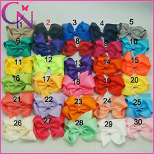 Lot 4 inches Girls Baby Hair Bows Hair Pin Clips Aligator Clip Grosgrain Ribbon
