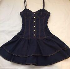 Rare Vtg Moschino Jeans Navy Cotton Dress S