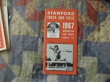1967 STANFORD TRACK AND FIELD MEDIA GUIDE Yearbook Program Press Book College AD