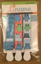 Pacifier Clip by Liname - 3 Pack - Adorable 2-Sided Stylish Design