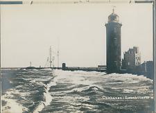 Allemagne, Cuxhaven, le phare  Vintage silver print,  Tirage argentique