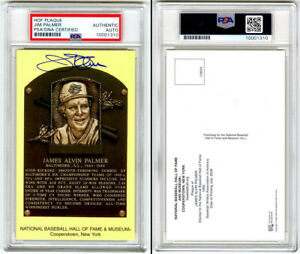 Jim Palmer SIGNED Baseball Hall of Fame Plaque Orioles PSA/DNA AUTOGRAPHED
