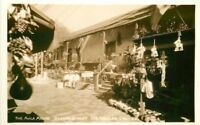 Avilla Adobe Olvera Street Los Angeles California 1930s RPPC Photo Postcard 1181