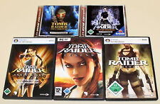 5 PC SPIELE SAMMLUNG TOMB RAIDER LEGEND ANNIVERSARY ANGEL UNDERWORLD CHRONIK