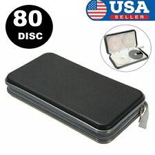 New listing 80 Disc Case Cd Holder Dvd Cases Storage Album Wallet Vcd Organizer Bag Black Us