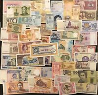 Twenty (20) Different World Banknotes Uncirculated, Mint Currency, Foreign Set