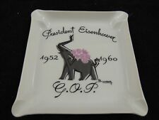 A Giraud & Brousseau Limoge Eisenhower GOP Ashtray Elephant