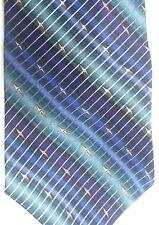 "Bill Blass Men's Silk Tie 59"" X 4"" Multiple Color Stripes (Both Ways)"