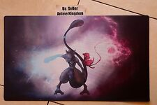 Custom Yugioh Playmat Play Mat Large Mouse Pad Cool Mewtwo & Mew #646