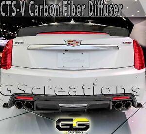 2016-2019 CTS-V Sedan CARBON FIBER Rear Bumper Diffuser