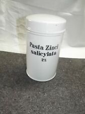 Porzellan Dose Apotheke Apothekengefäss Pasta Zinci salicylata 2 %