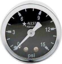 "FUEL PRESSURE REGULATOR 1.5""DIA. GAUGE 0-15 PSI DRAG IMCA NHRA CARB HOLLEY AED"