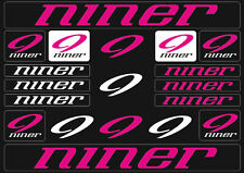 Niner Mountain  Bicycle Frame Decals Stickers Graphic Adhesive Set Vinyl Purple