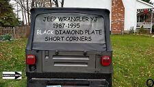 Jeep YJ Wrangler 3 1/2  BLACK Aluminum Diamond Plate SHORT CORNER Guards 1987-95