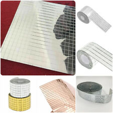 Glass Mirror Mosaic Tiles Self Adhesive Mini Square  DIY Wall Tile Decor Decal