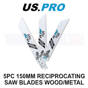 US PRO Tools 5 X 150MM Reciprocating Saw Blade For Wood US922HF 9166