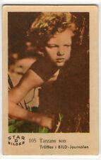 1960s Swedish Film Star Card Star Bilder D #105 Tarzan's son Johnny Sheffield