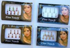 4 PACK SILVER, MULTI COLOR ,MAROON,GOLD LONG SIZE BOLLYWOOD HEAD BINDI TATTOO