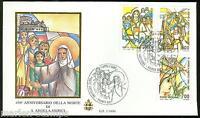 VATICAN CITY 1990 450th ANN DEATH OF ST. ANGELA MERICI GOLDEN SERIES FDC