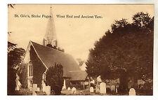 St Gile's - Stoke Poges Photo Postcard c1910 / Slough