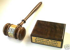 Gavel & Block Authentic  Free Engraved New Lawyer Judge