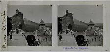 MONACO La Montée STEREO Plaque de verre positive 7x15cm, 1904