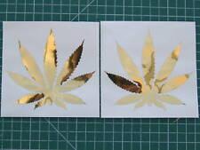 4 MARIJUANA stickers(2 sets) decal window car laptop