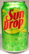 "FULL 12 Ounce Dr. Pepper's ""Sun Drop"" Citrus Soda USA (Mountain Dew Competitor)"