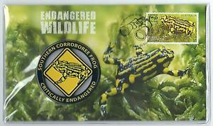 2016 ENDANGERED WILDLIFE SOUTHERN CORROBOREE FROG MEDALLION COVER NUMBERED 25