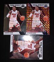 KENDRICK NUNN Panini Mosaic Lot - Base, Reactive Orange, NBA Debut 19-20 Heat