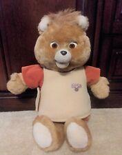 Vintage 1985 Teddy Ruxpin Talking Bear World Of Wonders & 1 Tape