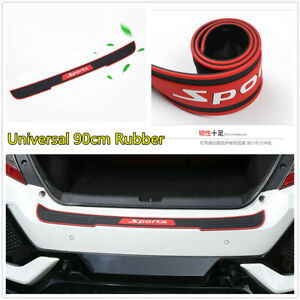 Rubber Black/Red Sports Anti-scratch Strip For Car Rear Bumper Guard Trunk Edge