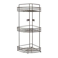 Bathroom Shelf Organizer Corner Rack Large Metal 3-Tier Storage Holder Counter