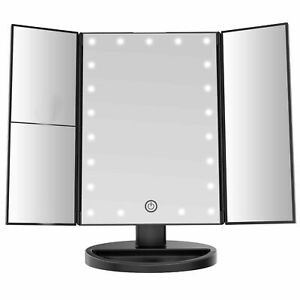 24 LED Beautify Makeup Mirror Vanity Light Illuminated 1x 2x 3x Trifold Dimmable