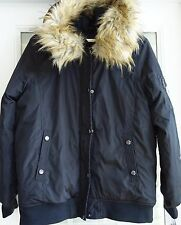 Madden Girl Parka Large With Hood Detachable Faux Fur Hip Length New with Tags