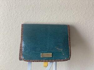 NWOT Samantha Brown Croco-Embossed Hand Bag Snakeskin