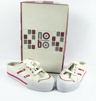 No Boundaries Womens Sneaker Slip On Shoes White & Red Lace Up Size 6 NIB
