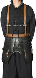 Armor Epic Dark Faulds and Tassets LARP Medieval Armour Dark Grey One Size