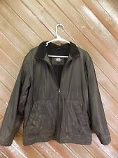 B MOSS Coat Black Polyvinyl Fleece Lined Full Zip Front Women's Size Medium