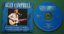 Glen Campbell Rhinestone Cowboy inc Gentle On My Mind / Crying + Live Rec CD