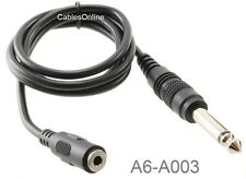 3ft 3.5mm (1/8 inch) TRS Stereo Female to 6.3mm (1/4 inch) TS Mono Male Cable