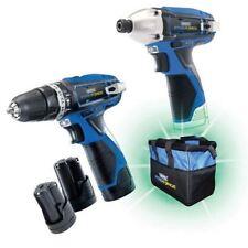 Draper Stormforce 10.8V Hammer Drill & Impact Driver Twin Pack + 3 Batt 52046
