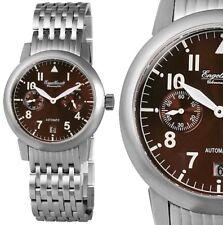 Automatik Herren Armbanduhr Braun/Silber Edelstahlarmband ENGELHARDT 339,- UVP
