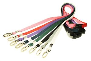 Lanyard Neck Strap Strong Metal Clip for ID Card Pass holder PICK YOUR COLOUR!!