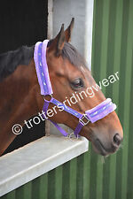Padded Headcollar with faux fur & Lead Rope / All Sizes Pony,Cob,Full
