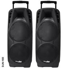 Coppia 2 CASSE AUDIO 1700 WATT Extreme Sound Bluetooth USB RADIO KARAOKE DJN-10D