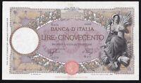 ITALY ------ 500  LIRE  1940 ------- F -------