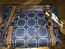 Nine West Womens Navy Blue Geometric Element 9 Purse Handbag Clutch Garden Night