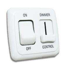 LED Dimmer Switch 12V on-off Light RV Motor Home Camper  Trailer White 12 V