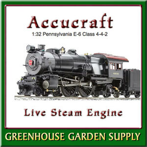ACCUCRAFT AL97-433  LIVE STEAM Pennsylvania E-6 Class 4-4-2 Green Lined